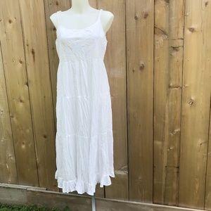 White cotton papa Vancouver boutique dress size L
